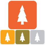 Fir Trees icon. Fir Trees flat icon . Vector illustration Royalty Free Stock Photography