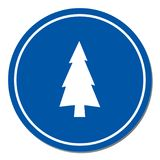Fir Trees icon. Fir Trees forest flat icon Royalty Free Stock Image