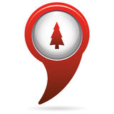 Fir Trees icon. Fir Trees forest flat icon Royalty Free Stock Photography