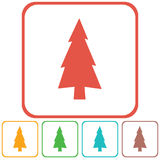 Fir Trees icon. Fir Trees forest flat icon Royalty Free Stock Images