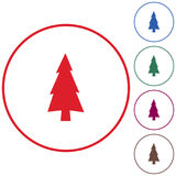 Fir Trees icon. Fir Trees forest flat icon Stock Photography