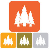 Fir Trees icons set. Fir Trees flat icons set Royalty Free Stock Photos