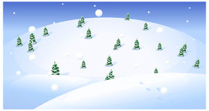 Fir trees over snowcapped. Landscape Royalty Free Stock Photo