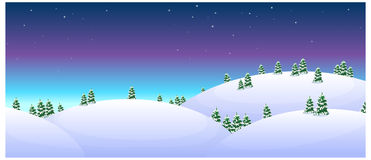 Fir trees over snowcapped Stock Images