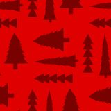 Fir trees seamless pattern Stock Photography