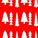 Fir trees seamless pattern Royalty Free Stock Photos