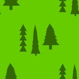 Fir trees seamless pattern. Abstract seamless christmas and new year background with spruce trees Royalty Free Stock Photo