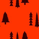Fir trees seamless pattern. Abstract seamless christmas and new year background with spruce trees Royalty Free Stock Photos
