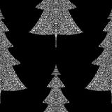 Fir trees seamless pattern. Abstract seamless christmas and new year background with spruce trees Stock Image