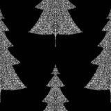 Fir trees seamless pattern Stock Image