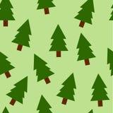 Fir trees seamless pattern Stock Photo