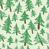 Fir-trees seamless texture Stock Images