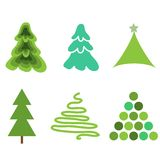 Fir trees. Simple new year collection Stock Photo