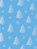 Fir Trees and Snowflakes Stock Image