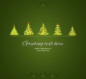 Fir-trees winter  background Stock Image