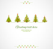 Fir-trees winter  background. Fir-trees winter retro background. Vector illustration Royalty Free Stock Photo