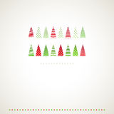 Fir-trees winter events background. Stock Photo