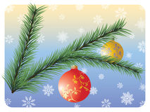 Fir Twig. Vector christmas background with fir branch Royalty Free Stock Photo