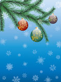Fir Twig. Vector christmas background with fir branch Royalty Free Stock Image