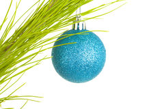 Fir Twig with Decorative Ball Stock Photos