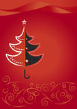 Fir-umbrella. New Year's and Christmas background Stock Photo