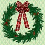 Fir wreath. Raster version of vector Christmas fir wreath Stock Image