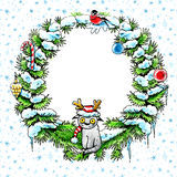 Fir wreath Royalty Free Stock Images