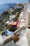 Fira圣托里尼海岛,希腊 库存图片