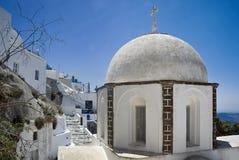 Fira教会圆顶 库存照片