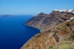 fira海岛santorini视图 免版税库存照片