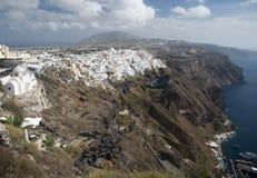 Fira镇,桑托林岛,希腊 免版税库存图片