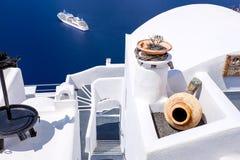FIRA, GREECE-SEPTEMBER, 02,2014 免版税库存图片