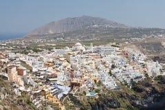 Fira. A view of town Fira, Santorini isl., Greece royalty free stock photo