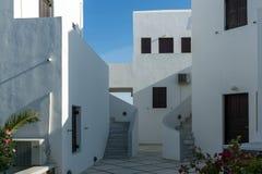 对Fira,圣托里尼海岛,锡拉,希腊镇的全景  库存照片