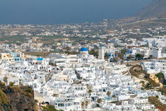 Fira. Aerial view of the city. Stock Photography