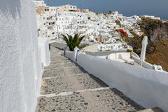 Fira. Aerial view of the city. Royalty Free Stock Image
