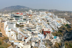 Fira. Aerial view of the city. Stock Image