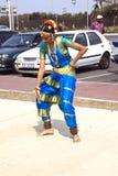 Fira arvdag med dans i Durban Sydafrika Arkivbild