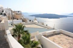 Fira auf Santorini-Insel Die Kykladen, Griechenland lizenzfreie stockfotografie