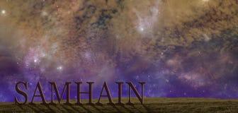 Fira bakgrund för det Samhain sommarslutet arkivbild