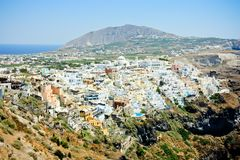 Fira - the capital of santorini island Royalty Free Stock Image