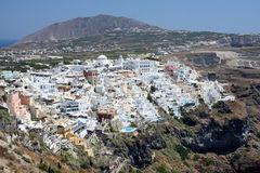 Fira the capital of Santorini island Stock Photos