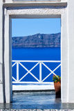 Fira the capital of Santorini island in Greece Royalty Free Stock Photography