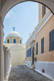 Fira catholic cathedral 06 Royalty Free Stock Photo
