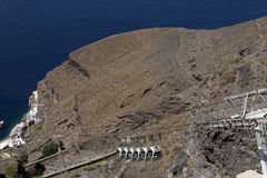 Fira chairlift Santorini Royalty Free Stock Image