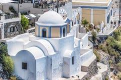 Fira Church on Santorini Stock Images