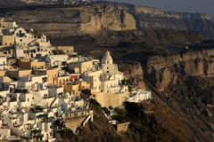 Fira, city in Greece island Santorini Stock Photos