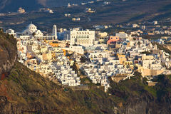 Fira city at Santorini island in Greece Royalty Free Stock Photo