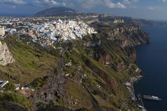 Fira city at Santorini island, Greece Royalty Free Stock Photos