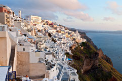 Fira city at Santorini island in Greece Royalty Free Stock Photos